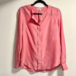 Sonia Rykiel Blush Pink Silk Button Up Blouse Top